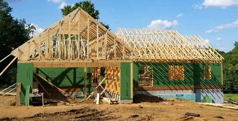 residential wooden truss